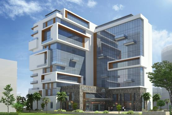 New aloft hotel in palm jumeirah dubai lundwall architects for The newest hotel in dubai
